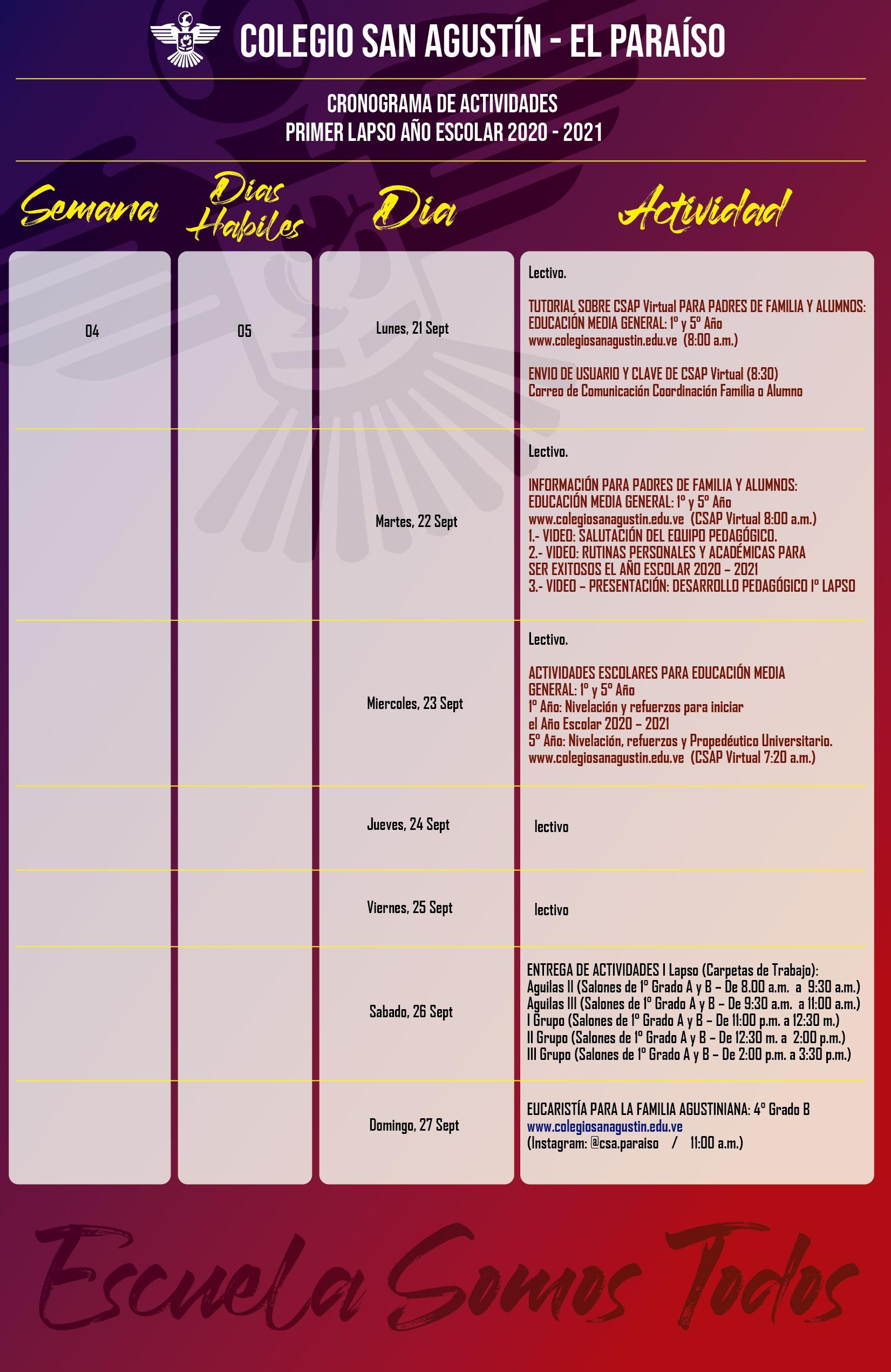 calendario Colegio San agustin x semana_Mesa de trabajo 1 copia 2